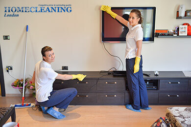 Deep cleaning by two of our maids